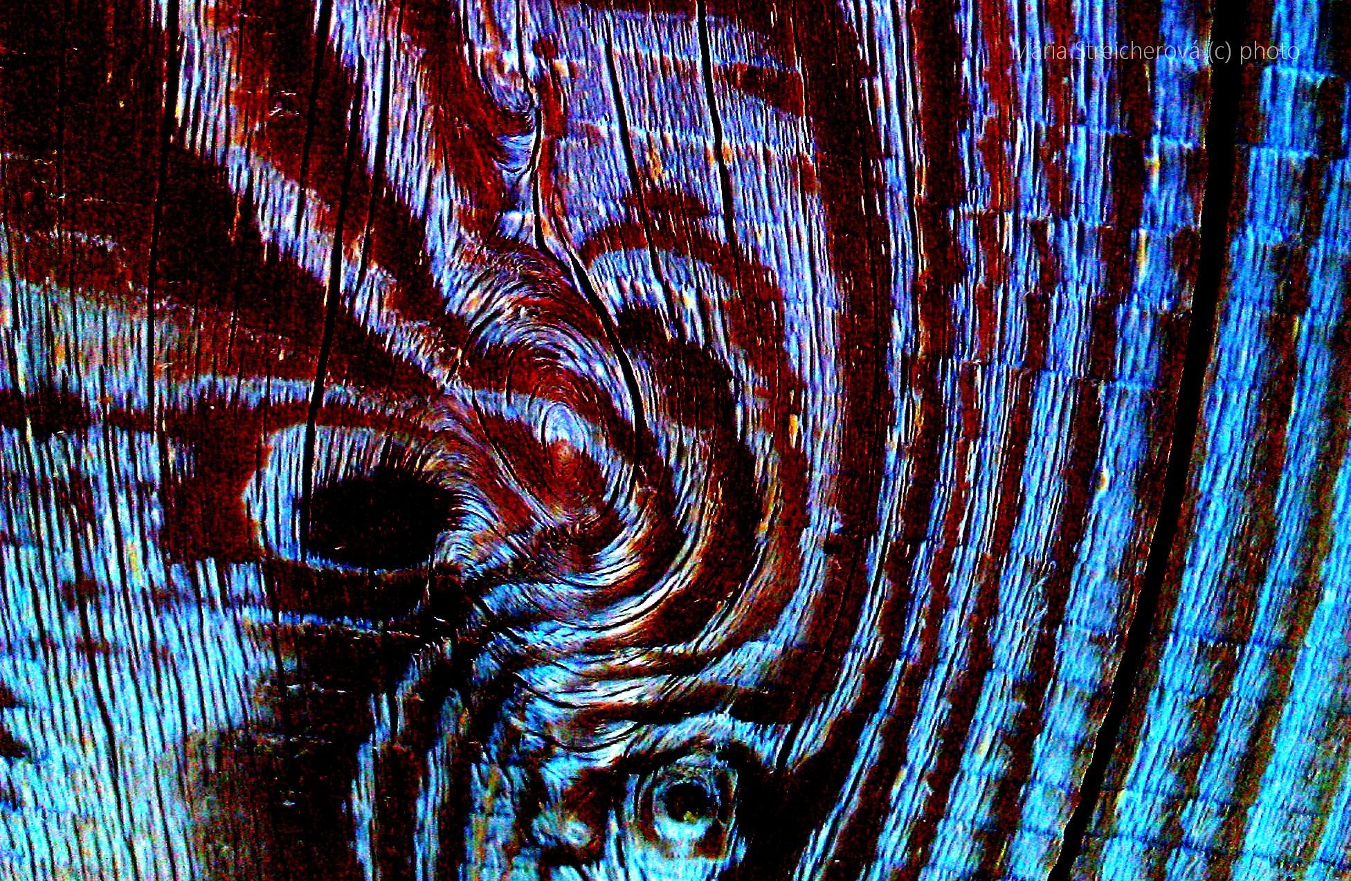 Štruktúra a kresba dreva vo farebnej úprave.